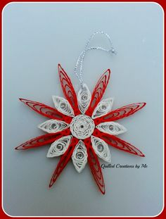 Quilled snowflake made by Quilled Creations by Me