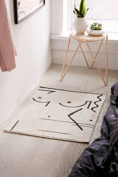 Abstract Lady Print Rug | Urban Outfitters