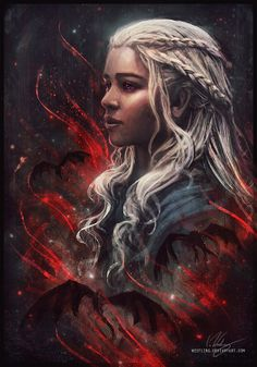 Daenerys Targaryen from Game of Thrones (art) Arte Game Of Thrones, Game Of Thrones Artwork, Game Of Thrones Fans, Game Of Thrones Dragons, Cersei Lannister, Game Of Thrones Instagram, Game Of Trones, My Champion, Drawn Art