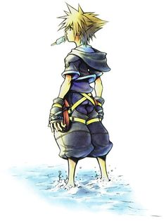 Sora from Kingdom Hearts..