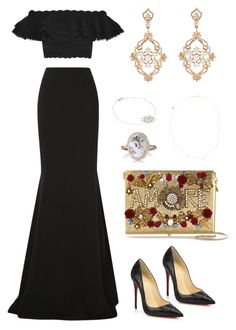 Geen titel #4 by frombelgiumwithfashion on Polyvore featuring polyvore, fashion, style, Alexander McQueen, Roland Mouret, Christian Louboutin, Dolce&Gabbana, Sara Weinstock, Monique Péan, STONE, Jennifer Meyer Jewelry and clothing