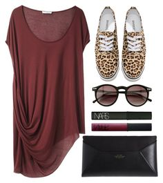 """Untitled #337"" by style-dreams ❤ liked on Polyvore featuring Helmut Lang, NARS Cosmetics, Wildfox, H&M and Smythson"