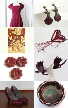 burgundy Fall by Laurie Oharra on Etsy--Pinned with TreasuryPin.com