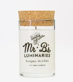 50-Hour Scented Soy Candle | Home Decor & Lighting | Mr. B's Luminaries | Scoutmob Shoppe | Product Detail