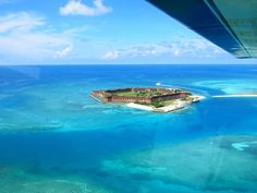 Fort Jefferson, Florida. Built to help suppress piracy in the Caribbean. : pics