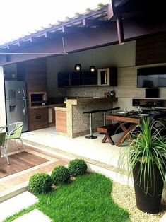 Super Ideas For Apartment Patio Grill Patio Ideas Bbq, Outdoor Patio Designs, Outdoor Kitchen Design, Outdoor Decor, Patio Grill, Pergola Patio, Pergola Plans, Backyard Landscaping, Bbq Grill