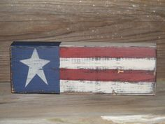 Americana Decor Handpainted 2x4 Block by theprimplace on Etsy