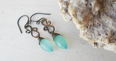 Artisan faceted blue aqua chalcedony marquise by CultivatedDreams