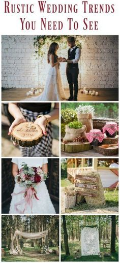 The best and newest rustic wedding trends