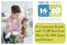 We want to share your best posts about life with teens and tweens!