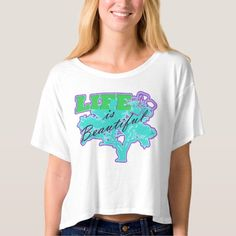 Life is Beautiful Crop Top Shirt for women. Being unique has never been so Shweasy. Add one or seven of these to your summer wardrobe.