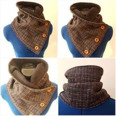 Easy Tutorial for Neck Warmer Source by matkel. Small Sewing Projects, Sewing Projects For Beginners, Sewing Hacks, Sewing Tutorials, Sewing Crafts, Sewing Scarves, Sewing Clothes, Crochet Scarves, Diy Scarf