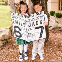 The first day of school is big news! Commemorate it with a DIY newsletter. For a unique photo prop, use poster board and stickers to list their current stats and favorites. Check out our School Days Pinterest Board for more ideas!
