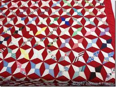 Someday I will make a periwinkle star quilt... (Bonnie Hunter's blog)