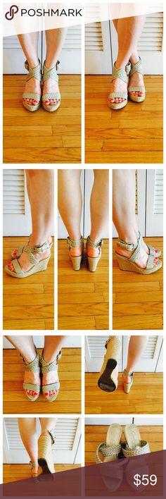 Beige Wedge Espadrilles Worn, but in decent condition! Jessica Simpson Shoes Espadrilles