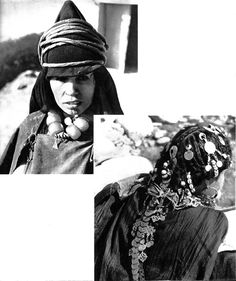 Africa | Top: Woman from Tabatchnit. High Atlas, Morocco & Bottom:  Woman from the Ksar-es-Souk region (Moroccan - Algerian border) |  'Images du Maroc Berbere' Henri Duquaire. Photographies de J. Belin. 1st edition 1947 ~pages 61/62