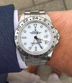 "Rolex Polar Explorer II KSK ""luxury as a way of life"" Dream Watches, Fine Watches, Luxury Watches, Cool Watches, Rolex Watches, Watches For Men, Rolex Explorer Ii, Rolex Date, Luxury Watch Brands"