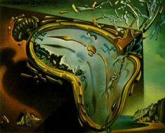 """""""Schmelzende Uhr"""", 1954 von Salvador Dali (1904-1989, Spain)"""