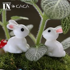 2 Pcs Home Micro Garden Decoration Rabbit Animal Model Action Figure Toy //Price: $7.95 & FREE Shipping //     #actionfigurecollectors