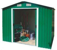 Zahradní domek na nářadí kovový 224 x 193 x 210 cm Shed, Outdoor Structures, Catalog, Barns, Sheds