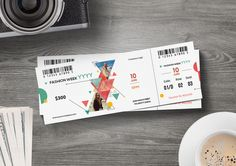 Ticket Template Invitation Design, Invitations, Ticket Template, Create Yourself, Clip Art, How To Get, Social Media, Templates, Event Tickets