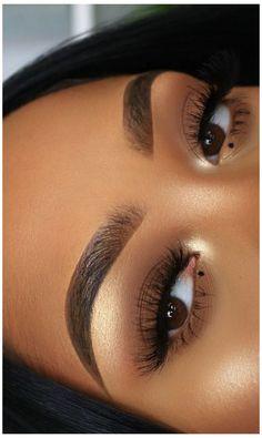Natural Organic Makeup, Natural Makeup Looks, Black Girl Makeup Natural, Natural Beauty, Black Makeup Looks, Brown Skin Makeup, Blue Eye Makeup, Makeup Eyeshadow, Makeup Glowy