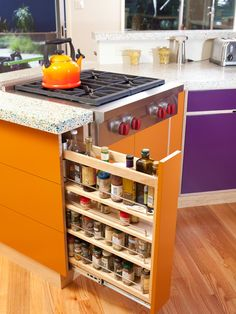 I'm all about organizing to make more room! Love this idea, but not the color!