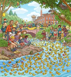 Highlights What's Wrong? April, Wimmelbild Created for Highlights Magazine Copyright © Highlights Press Find The Hidden Objects, Hidden Picture Puzzles, Communication Orale, Highlights Magazine, Number Talks, Math Talk, Writing Pictures, Create Picture, Puzzle Art