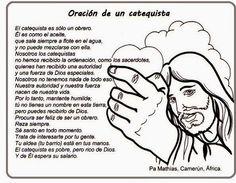 El Rincón de las Melli: Oración de un catequista