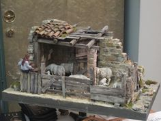 Nativity scenes and dioramas in exhibitions for Italy - Video courses for dioramas and nativity scenes Christmas Crib Ideas, Christmas Clay, Simple Christmas, Christmas Village Display, Christmas Nativity Scene, Christmas Villages, Nativity Scenes, Diy Nativity, Architectural Sculpture