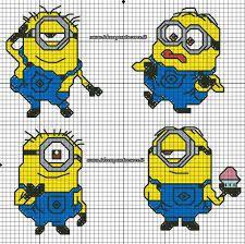 cross stitch pattern minions ile ilgili görsel sonucu