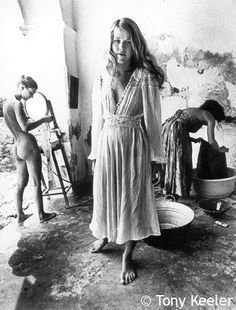 Washing clothes in the morning.. Sant Rafel. 1972.