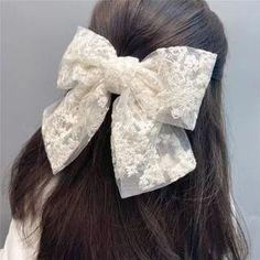 Bow Hair Clips, Flower Hair Clips, Flowers In Hair, Butterfly Hair, Lace Bows, Hair Claw, Cuff Earrings, Headband Hairstyles, Hair Pins
