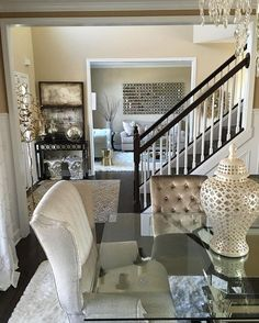 want to open stairwell and utilize small bedroom better.From my dining room into my living room Inspire Me Home Decor, Home Design, Design Ideas, Design Inspiration, Kirkland Home Decor, Interior Decorating, Interior Design, Decorating Ideas, Decorating Websites