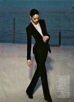Freja Beha Erichsen photographed by Karl Lagerfield for Harper's Bazaar.