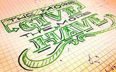 lettering honest artworks