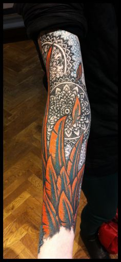 Feathers in colour, with mandalas by *Meatshop-Tattoo on deviantART