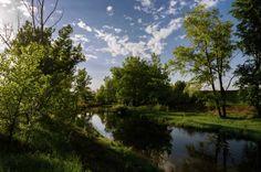 Lopan river. Kharkov. Ukraine