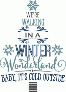 Silhouette Design Store - View Design #71505: winter wonderland word tree