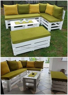 Tempting DIY Ideas with Recycled Wooden Pallets DIY Pallet Projects & Creations.Tempting DIY Ideas with Recycled Wooden PalletsUsing the old shipping pallets in your home decoration do mak Furniture Sets Design, Outdoor Furniture Design, Wood Pallet Couch, Wooden Pallets, Pallet Crafts, Diy Pallet Projects, Pallet Ideas, Pallet Garden Furniture, Diy Furniture