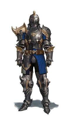 Fighter Knight Armor - Pathfinder PFRPG DND D&D d20 fantasy