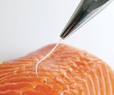 It can be tough to find and remove the tiny pin bones from fish fillets, unless you use this easy trick.