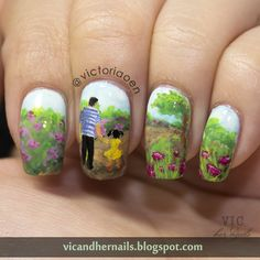 Nailpolis Museum of Nail Art | Daddy and His Girl by Victoria Oen