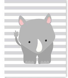 Rhino Nursery Art, Zoo Nursery Decor, Nursery Wall Art, Zoo Wall Art, Rhino Canvas, Baby Room Decor, Gender Neutral, Zoo Canvas Art, Shower by SweetPeaNurseryArt on Etsy