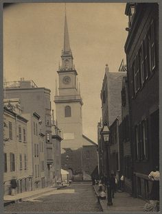 Old North Church on Salem Street, North End, Boston, MA, USA