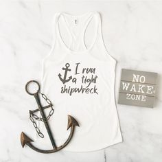 Make a fun shirt for yourself or your favorite mom that runs a tight shipwreck with this SVG file from Everyday Party Magazine #Shipwreck #MothersDay #CutFilesForCricut #Pirate