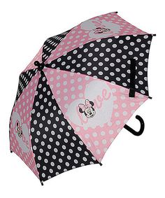 Look at this Minnie Mouse Polka Dot Umbrella on #zulily today!