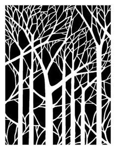 Tree Branches 190 Micron Mylar Stencil Durable & Sturdy- A5 - A4 - A3