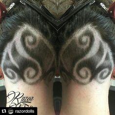 #Repost @razordolls with @repostapp ・・・ undercut  design ✌️ #razordolls #chapelstreet #melbournehairdresser #hairtattoos #hairtattoo #hairetching #hairdesign