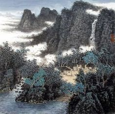 Page 3 Buy Chinese landscape paintings from China & World's Largest Online Chinese Painting Gallery. Asian oriental landscape paintings for sale. Chinese Landscape Painting, Chinese Painting, Landscape Paintings, Chinese Mountains, China World, Warring States Period, Sri Yantra, Chinese Brush, Painting Gallery